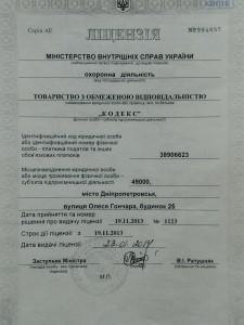 Ліцензія на охоронну діяльність